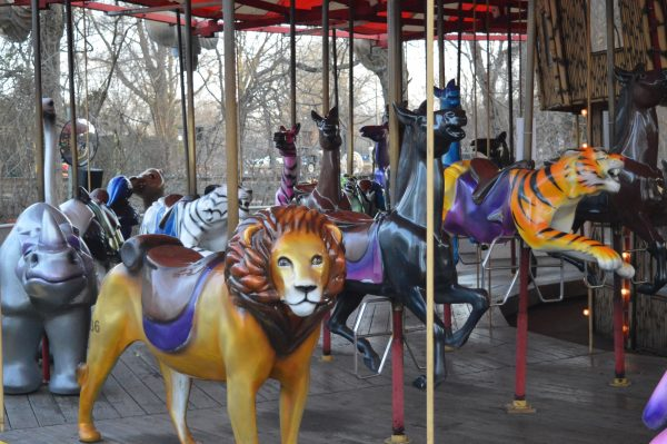 The carousel at Six Flags Holiday in the Park. (credit Anthony C. Hayes/BPE)