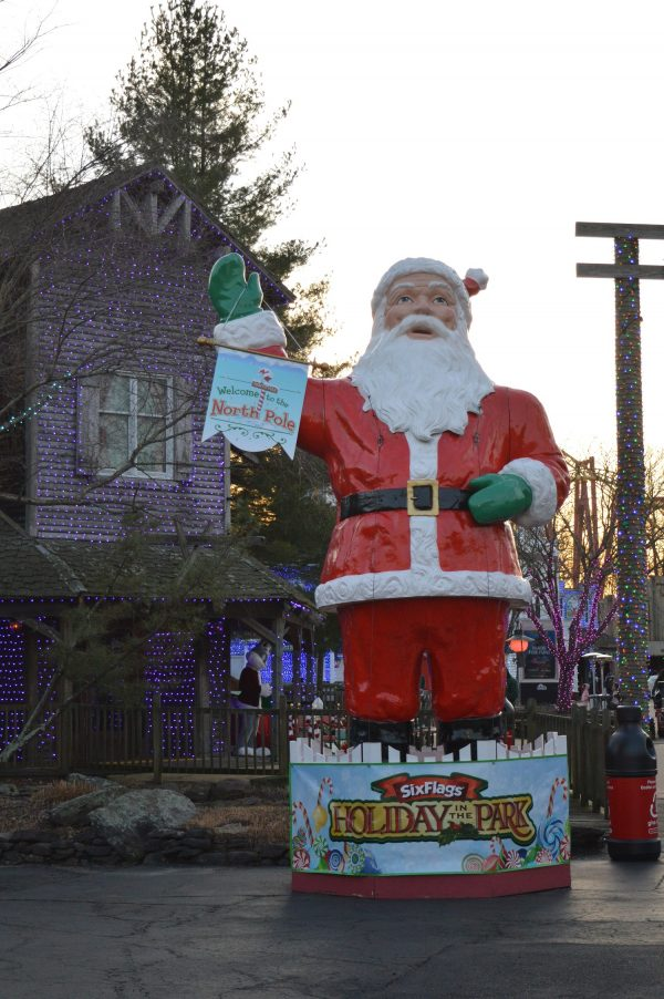 Santa at Six Flags Holiday in the Park. (credit Anthony C. Hayes/BPE)
