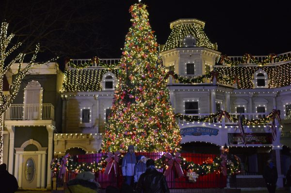 A Christmas tree at Six Flags Holiday in the Park. (credit Anthony C. Hayes/BPE)