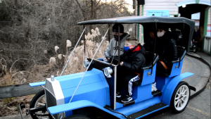 Six Flags Holiday in the Park: Even a child can handle the hazards of The Great Race. (Anthony C. Hayes/BPE)