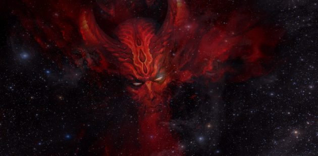 Satan wants to destroy God and rule the universe. (Image by ParallelVision from Pixabay)