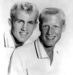 Deadman's Curve_Jan & Dean, publicity photo, 1959. Jan is on the left. Credit: Doré Records.