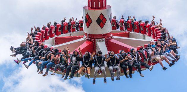 Harley Quinn Spinsanity: courtesy photo Six Flags America