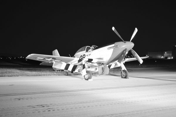 Night Engine-Run Photo Shoot of P-51D 'Red Nose' at 2021 MAAM WWII Weekend (Credit Anthony C. Hayes)
