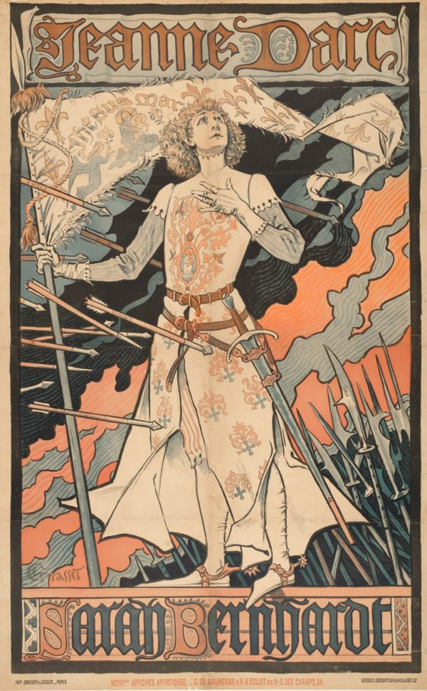 Women Behaving Badly: 400 Years of Power and Protest: Eugène Samuel Grasset. Jeanne d'Arc/ Sarah Bernhardt (Joan of Arc / Sarah Bernhardt).1890. The Baltimore Museum of Art: Gift of Henry E. Treide. BMA 1956.85.18