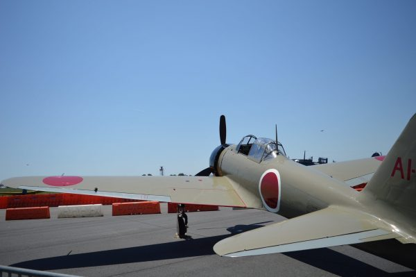 "MAAM WWII Weekend: IJN MITSUBISHI A6M2 MODEL 21 ""ZERO"" 'LAST SAMURAI' (credit Anthony C. Hayes)"