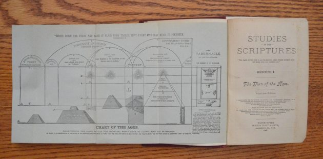 Pyramid chart from the Watch Tower Society publication The Divine Plan of the Ages. (credit Anthony C. Hayes)