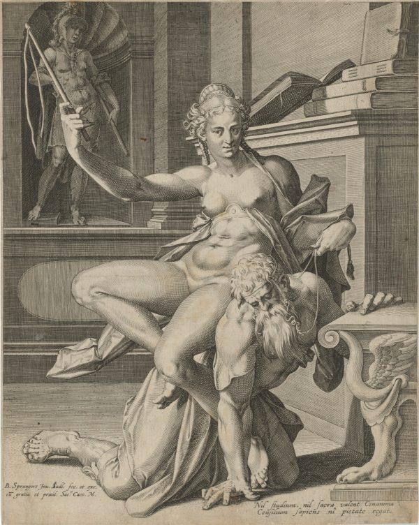 Women Behaving Badly: 400 Years of Power and Protest: Johann Sadeler I (after Bartholomeus Spranger). Aristotle and Phyllis.n.d. The Baltimore Museum of Art: Garrett Collection.BMA 1946.112.6875