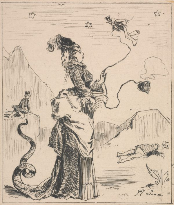 Henry Somm. Woman Teasing Miniature Men. (n.d.) The Baltimore Museum of Art: The George A. Lucas Collection, purchased with funds from the State of Maryland, Laurence and Stella Bendann Fund, and contributions from individuals, foundations, and corporations throughout the Baltimore community. BMA 1996.48.7853