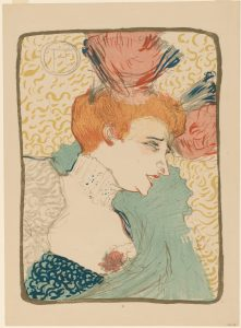 Women Behaving Badly at the BMA: Henri de Toulouse-Lautrec. A Bust of Mademoiselle Marcelle Lender. 1895. The Baltimore Museum of Art: The Cone Collection, formed by Dr. Claribel Cone and Miss Etta Cone of Baltimore, Maryland. BMA 1950.12.448