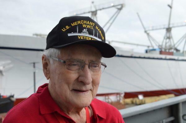 Merchant Marine veteran Lee Cox. (Anthony C. Hayes)