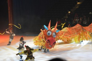 The elaborate scenery and use of a dragon featuring several skaters made the scene featuring Mulan stand out.