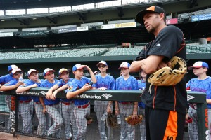 Orioles shortstop J.J. Hardy recently held a practice for the Savages Eagles baseball team at Camden Yards. (Baltimore Orioles)