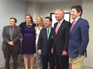Comptroller Franchot with BJC leaders. Executive Director Dr. Arthur C. Abrahamson is on the far left.