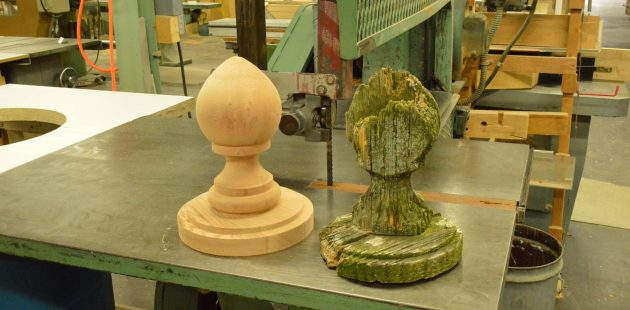 A restoration piece by Mark Supik & Co. Woodturning in Baltimore (credit Anthony C. Hayes)