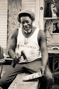 Winston- a vendor outside the Straw Market in Nassau Bahamas credit Davida G. Breier