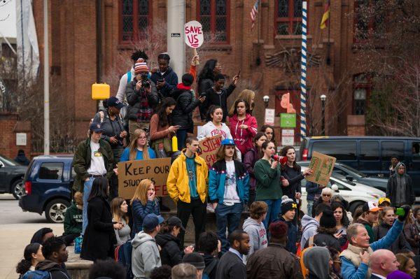 Baltimore Gun Violence Protest March 6, 2018. (credit Michael Jordan BPE)