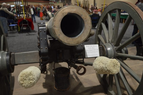 A canon at the Baltimore Antique Arms Show 2018. (Anthony C. Hayes)