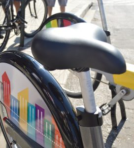 Seat height can be easily adjusted to fit the height of the rider.