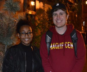 Lydia and Zach walked the entire distance of the Baltimore Trump Protest. (Anthony C. Hayes)