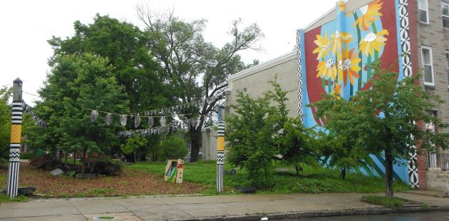 A beautifed lot in west Baltimore credit Anthony C. Hayes