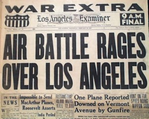 If it wasn't Japanese airplanes, what were coastal batteries shooting at during the Battle of Los Angeles?