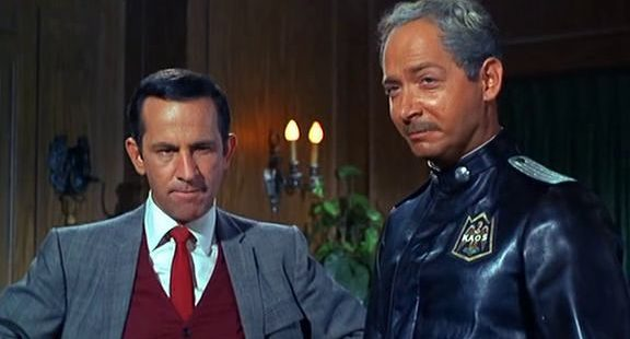 Don Adams and Bernie Kopell in a scene from Get Smart