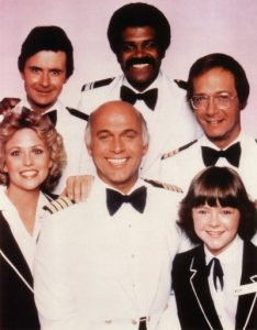 Bernie Kopell and the rest of the cast of The Love Boat.