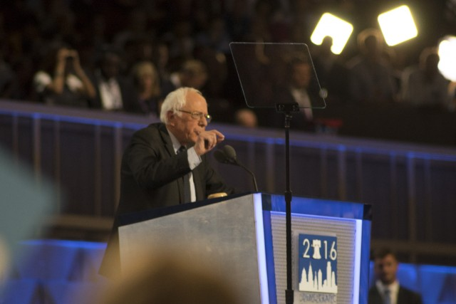 Sen. Bernie Sanders unification speech may have fallen short as his supporters continue to protest. (Doug Christian)