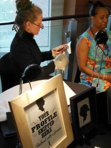 Lisa Muney cuts a silhouette of Dee McVea.