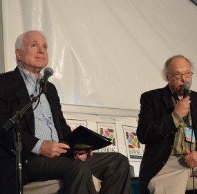 Senator John McCain was interviewed by journalist Bob Timberg at the 2015 Baltimore Book Festival. (Anthony C. Hayes)