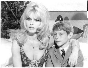 Brigitte Bardot and Billy Mumy.