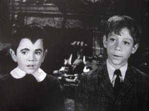 "Butch Patrick and Billy Mumy in Tyhe Munsters' episode, ""Come Back, Little Georgie""."