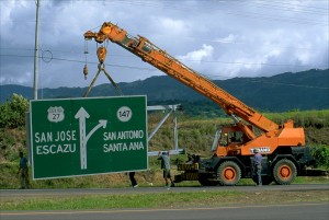 Costa Rican President Luis Guillermo Solís wants to make infrastructure improvements such as highways and bridges a priority of his new administration. (Larry Luxner)