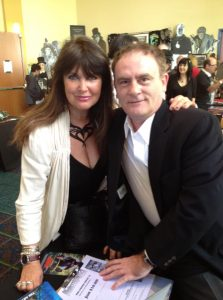 Caroline Munro and Mark Redfield - two of the stars of Sinbad and the Pirate Princess.