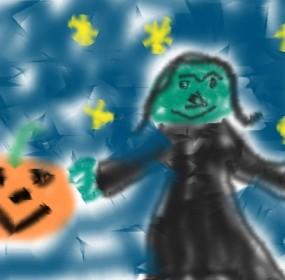 Child Art Halloween