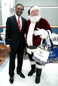 Dr. Ravi Krishnan with a friend from the North. (Stacy Atwell)