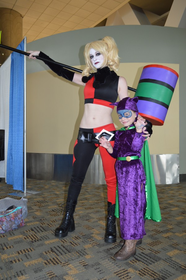 Rebecca `Hawk and her friend Lily as Harley Quinn and Cat Woman. (Anthony C. Hayes)