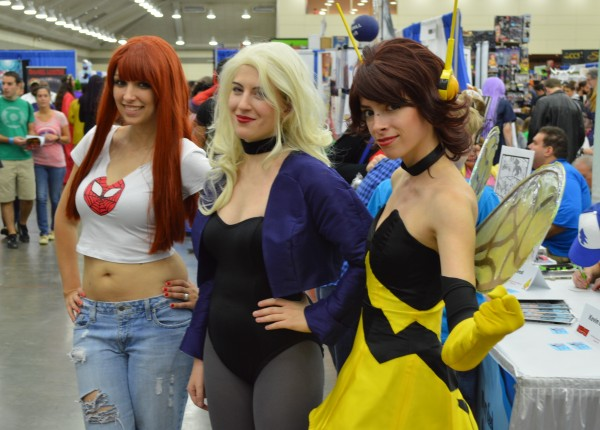 Mary Jane, Black Canary and The Wasp. (Anthony C. Hayes)