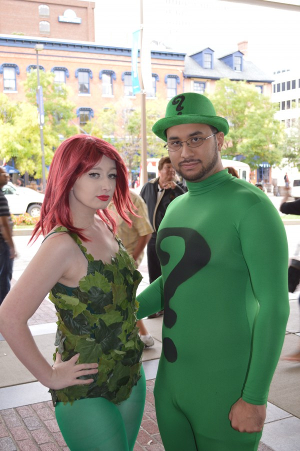 Kim and Justin cosplay Poison Ivy and Riddler.  (Anthony C. Hayes)