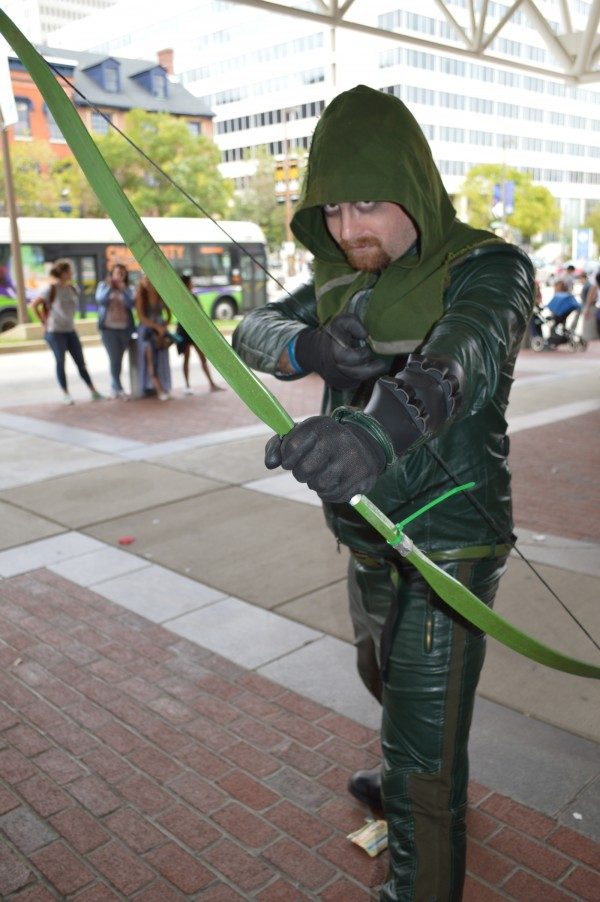 Sean takes his best shot as the Green Arrow. (Anthony C. Hayes)