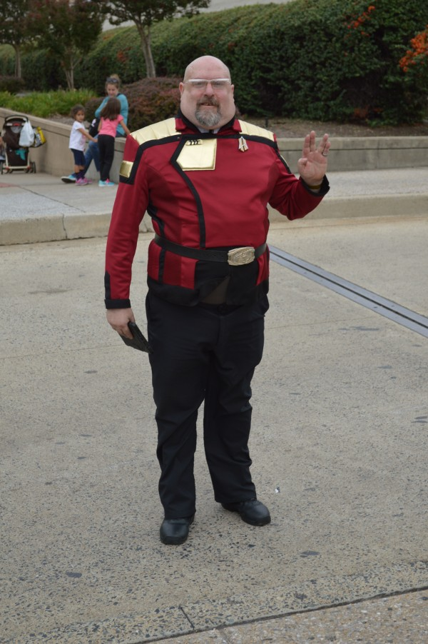 Don portrays an admiral from Star Trek. (Anthony C. Hayes)