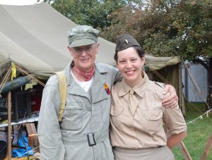 Chuck Berrier and Brittany Gnizak at D-Day Conneaut 2018.. (Anthony C. Hayes)