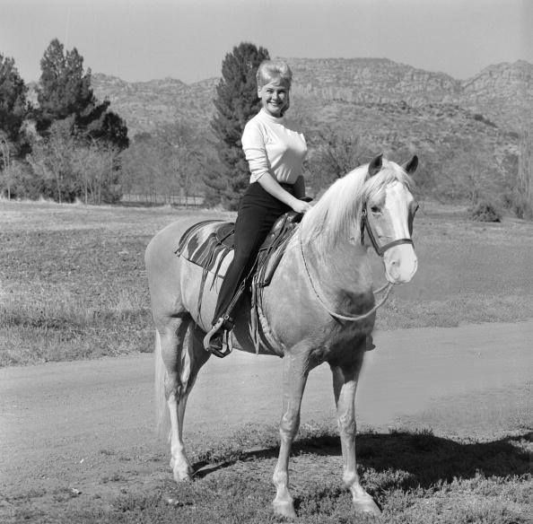 Connie Hinds with Mr. Ed.
