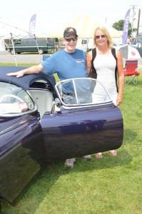 Jim and Ruth Exline arrived in a custom 1954 Corvette. (Anthony C. Hayes)