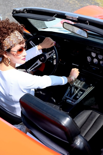 2016 Corvettes at Carlisle credit John Dutcher model Lady Camille