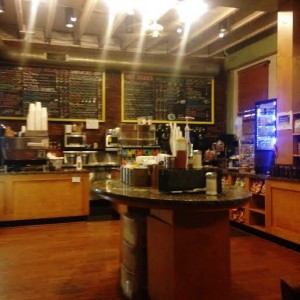 Daily Grind's inviting, spacious ordering area and large menu (Lauren Molander)