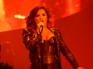 "Demi Lovato whipped the Baltimore Arena crowd into a frenzy with hit songs ""Hear Attack,"" ""Really Don't Care"" and ""Let It Go."" (Jon Gallo)"