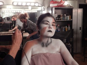 A professional makeup studio is used to turn people into monsters at Field of Screams Maryland. (Jon Gallo)