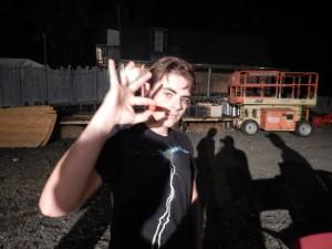 Spiro Swanson, a senior at Calvert Hall, enjoyed shooting zombies with paintballs at Field of Screams Maryland. (Jon Gallo)